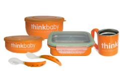 BPA Free Think Baby Stainless Steel feeding set